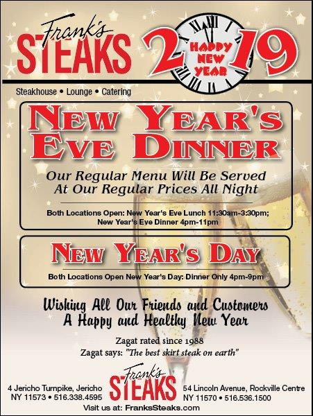 New Years Party @ Frank's Steaks