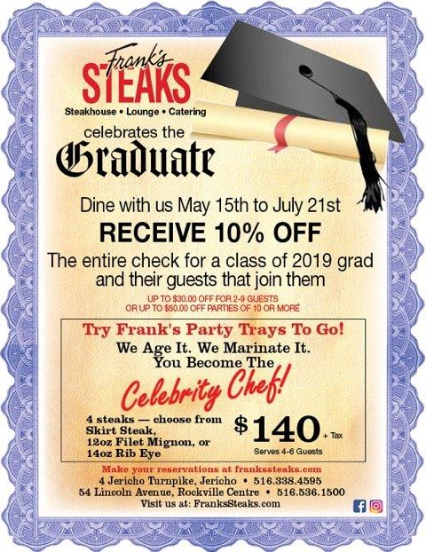 Class of 2019 @ Frank's Steaks !