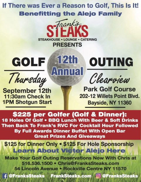 12th Annual Golf Outing Sponsored by Frank's Steaks !